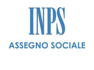 Assegno sociale INPS